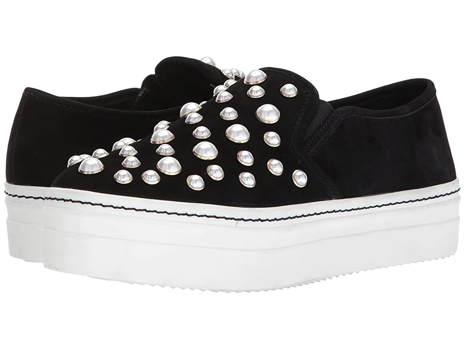 Alice + Olivia Sasha Pearls (Black Prime Suede/Pearls) Women