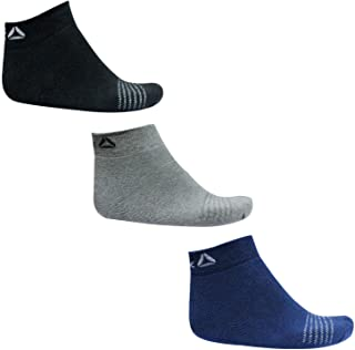 Reebok Unisex Cotton Towel Ankle Socks_Pack Of 3 & Spenca Cotton Black Helmet Bandana