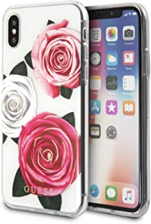 GUESS GUHCPXROSTRTC Flower Desire Transparent Hard Case for iPhone X/Xs - Tricolor Roses