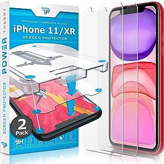 Power Theory Protector Pantalla Cristal Templado iPhone 11/iPhone XR - (2 Unidades) Vidrio Ultrafino (0.33mm), Ultraresistente (9H Dureza) con Kit de Instalación sin Burbujas