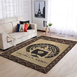OwlOwlfan Tapis de sol Viking Valhalla Awaits - Grand tapis de sol durable pour chambre à coucher, canapé, salon, cuisine,...
