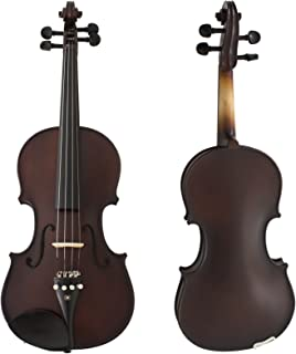Cecilio CVN-EA Ebony Fitted Solidwood Violin in Antique Finishes with Deluxe Oblong Hard Case 4/4 (Full Size) 4/4CVN-EAS+SR