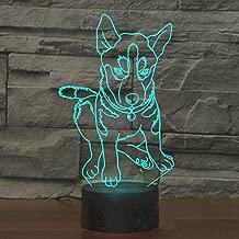 Animal Dog Husky 3D Illusion Night Light YKL World Led Huskie Touch Table Desk Lamp 7 Change Color Lights Toys Christmas Birthday Gifts for Kids Boys Girls Dog Lover Collection