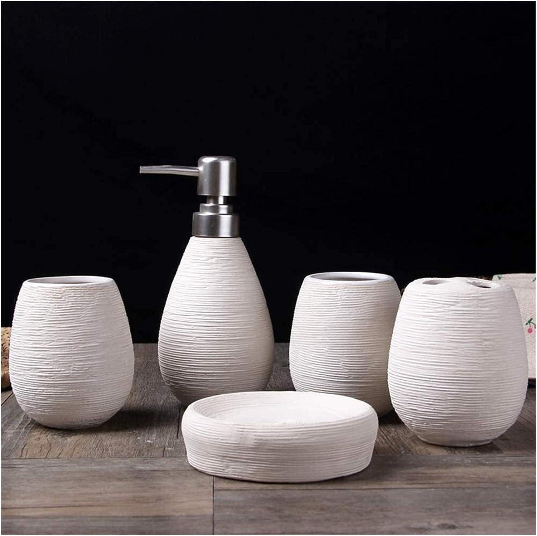 LXYYY Empty Shampoo Bottles 5 Cer Bathroom Excellence Set Long Beach Mall Piece Accessories