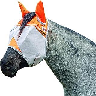 Cashel Crusader Standard Fly Mask with Orange Ears, Animal Rescue Benefit