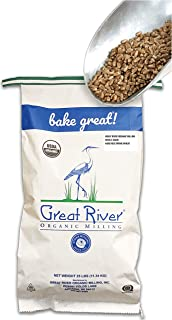 Great River Organic Milling – Organic Whole Grains Hard Red Spring Wheat, 25-pounds..