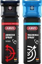 ABUS Abwehrspray SDS80 Pfefferspray zur Selbstverteidigung - Jet-Sprühstrahl - 5 Meter Reichweite - KO Spray - 78095
