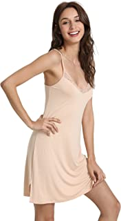 Women's Spaghetti Strap Cami Active Basic Camisole Under Mini Slip Dress