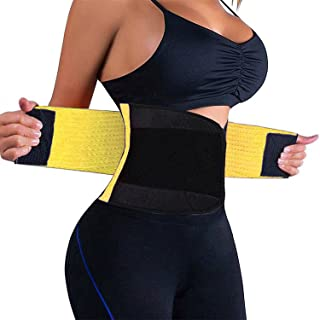 VENUZOR Waist Trainer Belt for Women - Waist Cincher Trimmer - Slimming Body Shaper Belt - Sport Girdle Belt (UP Graded) (XX-Large, Yellow)