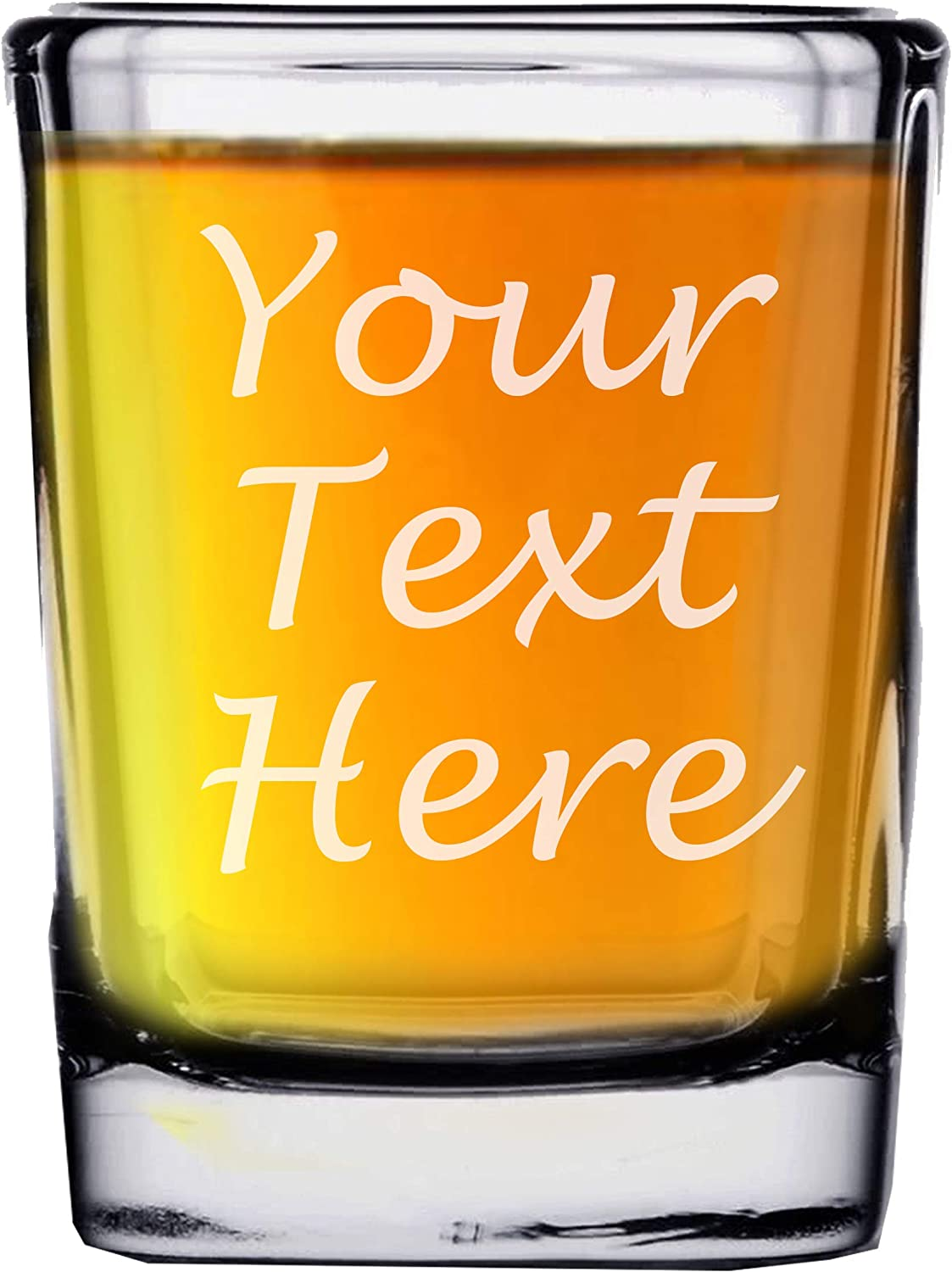 Custom Personalized Louisville-Jefferson County Mall 2 oz Square service Shot - with You Glass Customized