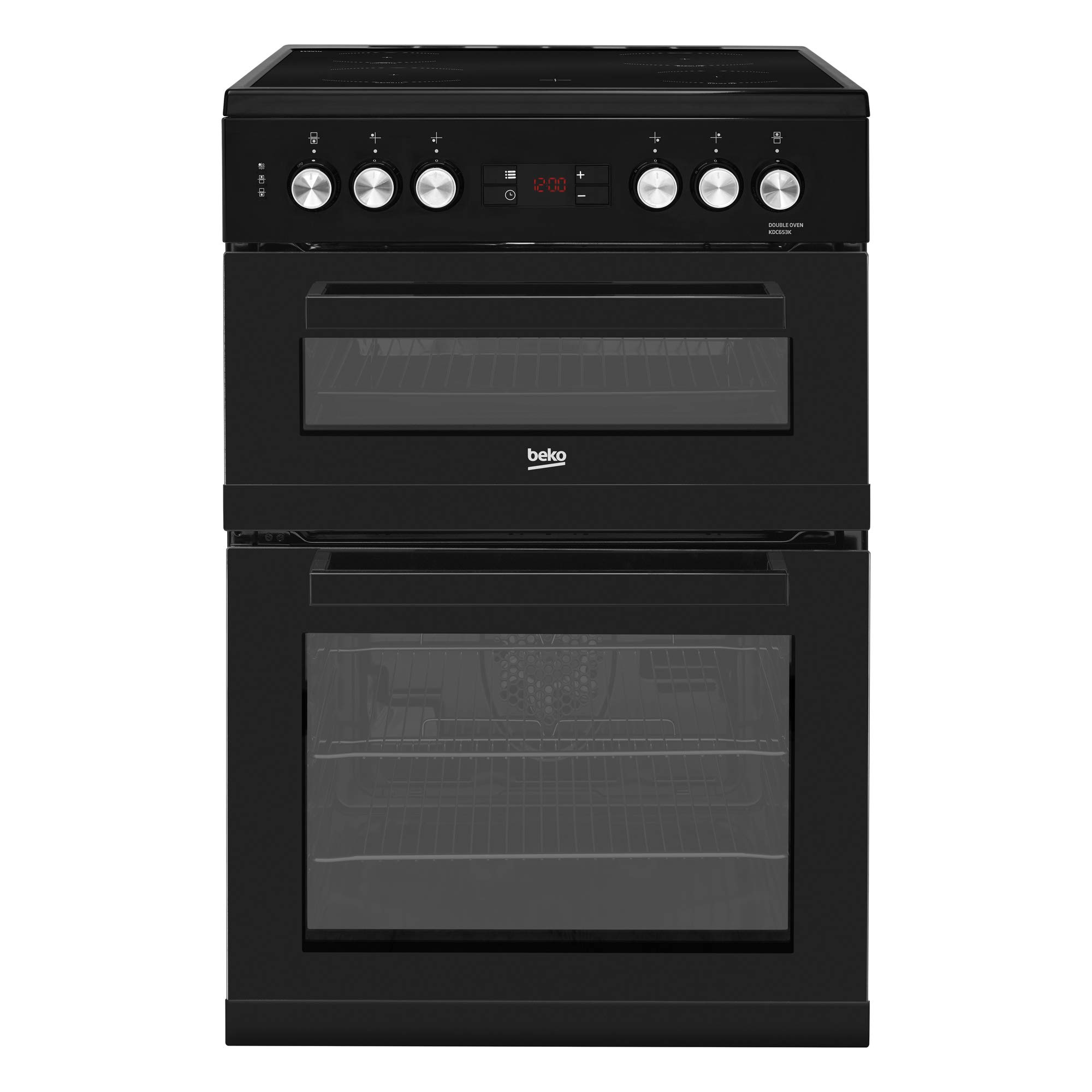 beko electric cooker amazon co ukbeko kdc653k 60cm double oven ceramic cooker in black with fully programmable timer
