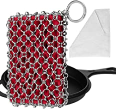Herda Cast Iron Skillet Cleaner, Upgraded Chainmail Scrubber Chain Scrub for Cast Iron Pan 316 Stainless Steel Metal Scrap...