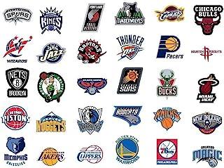 "NBA National Basketball Association Team Logo Stickers Set of 30 Teams 4"" X 3"" Size"