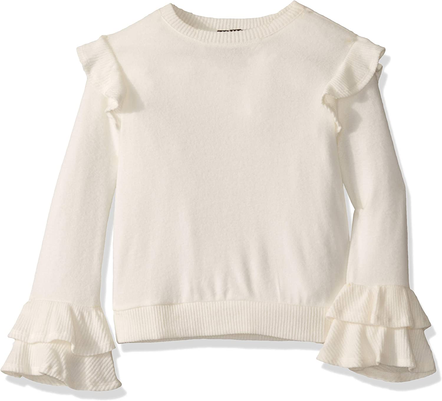 Amy Byer Girls Big Long Top with Ruffle at Sleeve