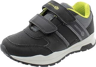 Geox Boys' CORIDAN 9 Sneaker Dual Riptape Strap, BLK, Black/Lime, 34 M EU Little Kid (3 US)