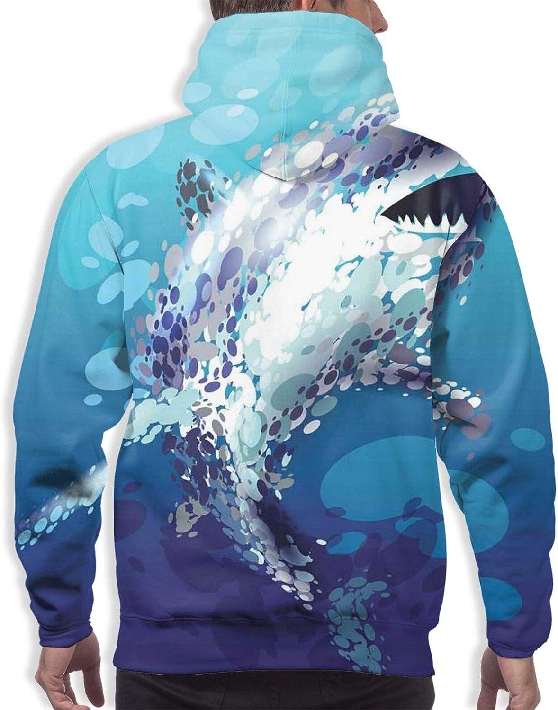 Men's Hoodies Sweatshirts,Digital Knit Wear Like Pattern with Hearts Modern and Love Themed Design