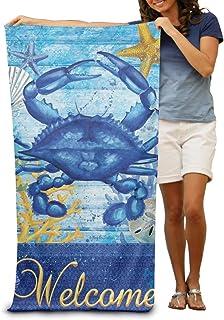 130×80 Cm ウェルカムサマー (2) ホテルスタイル ビーチマット 折りたたみ 吸水性バスビーチタオル ビーチ プール 海水浴 ビキニ 水着
