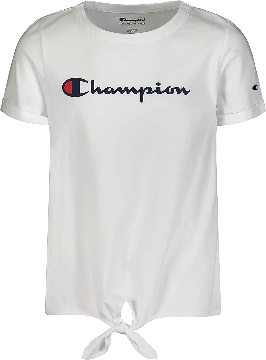 Champion Girls Classic Short Sleeve Rapid rise Tee Colorado Springs Mall Top Shirt with Front Tie