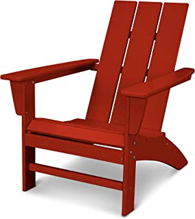 POLYWOOD AD420CR Modern Adirondack Chair, Crimson Red