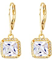 Kate Spade New York - Save The Date Princess Cut Leverback Earrings