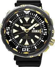 Seiko Prospex Golden Tuna Monster Diver Black Dial With Silicone Buckle Strap SRPA82J1