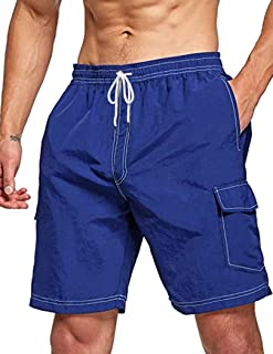 COOFANDY Men Board Swim Shorts Quick Dry Beach Shorts Swimwear Trunks with 4 Pockets