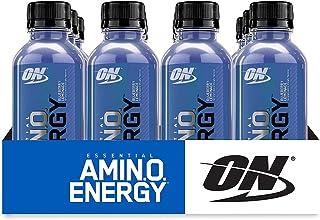 Optimum Nutrition Essential Amino Energy Ready-To-Drink, Blueberry Lemonade, Keto Friendly BCAAs, Preworkout and Essential...