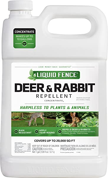 Liquid Fence Deer Rabbit Repellent Concentrate 1 Gallon