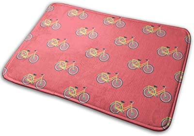 """Spring Bicycle Doormat Non Slip Indoor/Outdoor Door Mat Floor Mat Home Decor, Entrance Rug Rubber Backing Large 23.6""""(L) x 15.8""""(W)"""