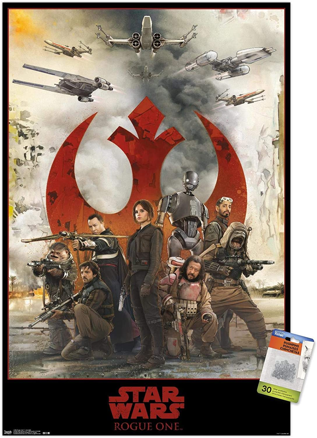 Star Wars: Direct store Rogue One - free Assemble Push Poster Pins Wall with
