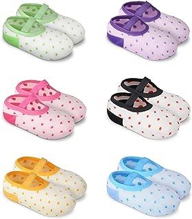 YOHOOLYO Baby Socks 6 Pairs Anti Skid Slip Socks Grip Socks for Toddlers 10-36 Months Toddler and Infants Girl Multicolor