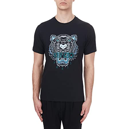 Kenzo Mens Tiger Face Regular Fit T Shirt S Black
