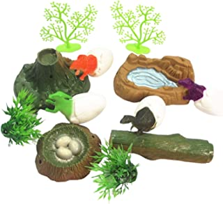 simhoa 12Pieces/Set Dinosaur Baby Egg Figure Animal Model Collector Toy Kid Gifts