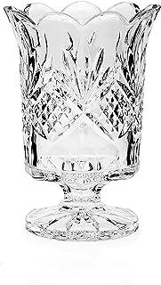 Godinger Silver Art Dublin Non-leaded Crystal Scalloped Hurricane Candle Holder
