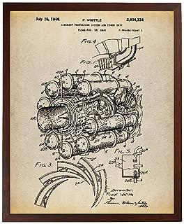 Turnip Designs Jet Engine Poster Art Print Aviation Decor Jet Engine Patent Airplane Decor TNP41