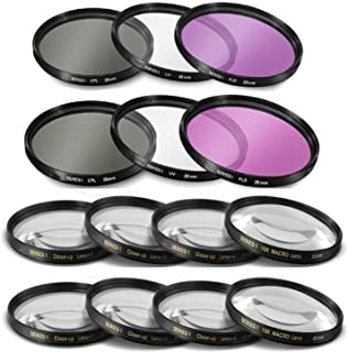 55mm and 58mm 14 Piece Filter Set Includes 3 PC Filter Kit (UV-CPL-FLD) And 4 PC Close Up Filter Set (+1+2+4+10) for Nikon...