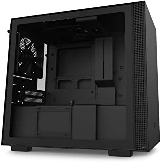 NZXT H210 CA-H210B-B1 - Mini-ITX PC Gaming Case - Front I/O USB Type-C Port - Tempered Glass Side Panel - Sistema de gestión de Cables - Water-Cooling Ready - Black