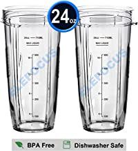 2 Pack 24oz Regular Cups with Marks for Measuring for Nutri Ninja 900W 1000W 1300w for Auto-iQ Duo Blender Accessories