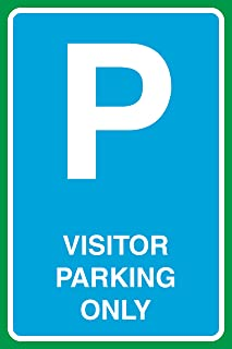 Visitor Parking Only Print Large Notice Parking Lot Office Work School Business Sign - 2 Pack, 12x18