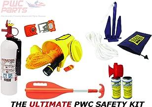 PWC Parts Ultimate Safety Kit for All Personal Watercraft SeaDoo Yamaha Kawasaki Honda Polaris GTX GTI RXP-X RXT-X GTR EX Spark FX VX Cruiser Sport Deluxe Limited XLT GP-R 1200 1300 800 XL GP1800 VXR