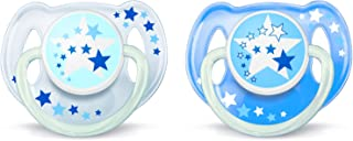 Philips AVENT SCF176/62 Night Time Soothers, 6-18 Months Multi Color