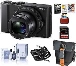"$497 Get Panasonic Lumix DMC-LX10 Digital Camera, 20MP 1"" Sensor - Bundle with 32GB SDHC U3 Card, Camera Case, Cleaning Kit, Memory Wallet, Mac Software Package"