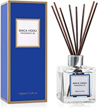 binca vidou Reed Diffuser Set Bergamot, Vanilla, Lavender & Jasmine Reed Oil Diffusers for Bedroom Living Room Office Aromatherapy Oil Reed Diffuser for Gift & Stress Relief 100 ml/3.4 oz