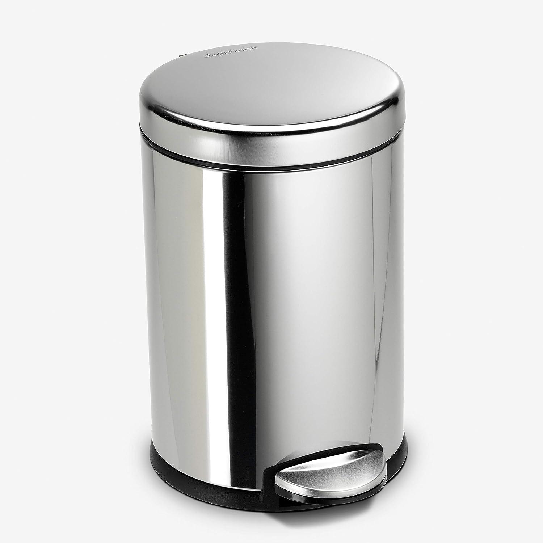 simplehuman 4.5 Liter 1.2 Gallon Step Can Cheap mail order sales Trash Max 64% OFF Bathroom Round