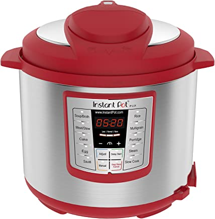 Instant Pot Lux 6 Qt Red 6-in-1 Muti-Use Programmable...