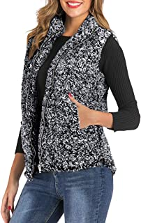 boheny womens quilted lightweight vest with removable hoodie