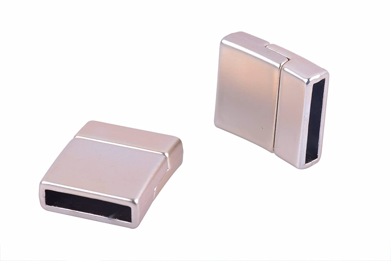 KONMAY 5 Sets 15.x3.0mm Matte Golden Glue-in Style Jewelry Magnetic Clasps