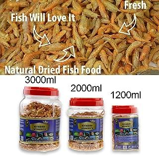 Jacksupermall Fish Feed Food Aquarium Pond Fish Food Floating Shrimp Krill Freeze Dried Carnivore Koi Tropical Cichlid Turtle