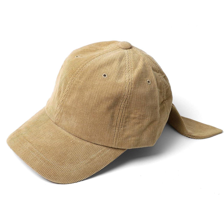 [エムエイチエー] M.H.A.style リボンキャップ コーデュロイ レディース 秋冬 CAP 帽子 野球帽 22025