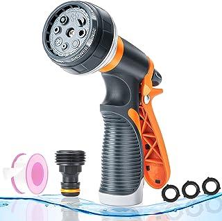 GOEKUU Garden Hose Nozzle Sprayer, High Pressure Hose Sprayer with 8 Adjustable Spray Patterns, Thumb Control Water Hose N...